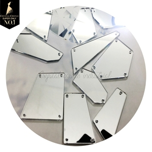 Wholesale large flatback mirror acrylic gems slab sewing rhinestones and mirror stones for costume dance dresses