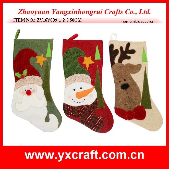 Christmas decoration (ZY16Y009-1-2-3 50CM) christmas outdoor decoration, christmas funny and cozy sock gift