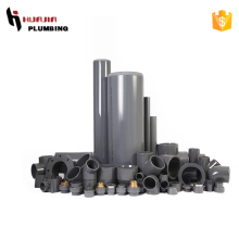 JH0418 dark grey pvs pipe fittings gray pvc pipe grey pvc pipe fittings sch40