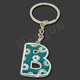 Solar Letter Design Key Chain Alphabet key chain