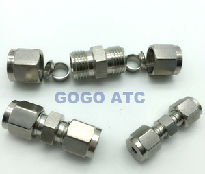 Quick coupler O.D 10 mm hard tube intermediate adapter joint SUS304 stainless steel bulkhead air tube fittings