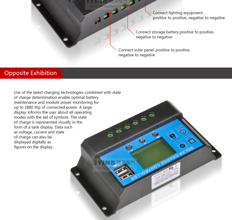Jyins Manual Pwm Solar Charge Controller Solar Controller