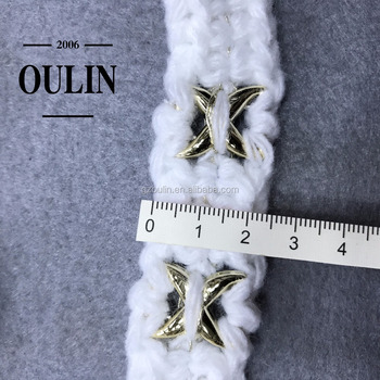 white color cotton ribbon tape lace trim with metal type ribbon tapes wholesale price lace trim