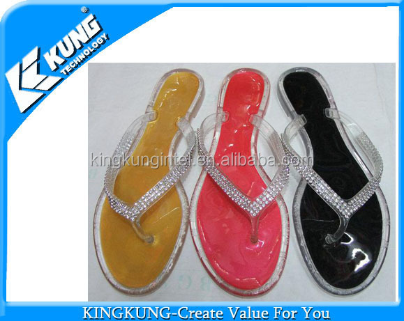 Pvc Crystal Jelly Shoes,China Manufacturer Women Crystal Flat ...