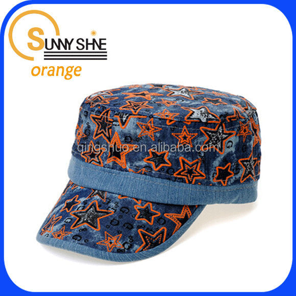 Sunny shine new style product high quality cheap china made custom fashion star baseball cap