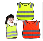 High Visibility Kids Safety Vest, Children Waistcoat Vest Grey Reflective Strips Traffic Clothes
