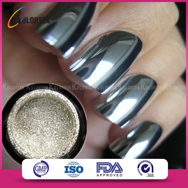 Mirror Nail Gel Polish Pigment Silver Chrome Nail Powder - Buy ...