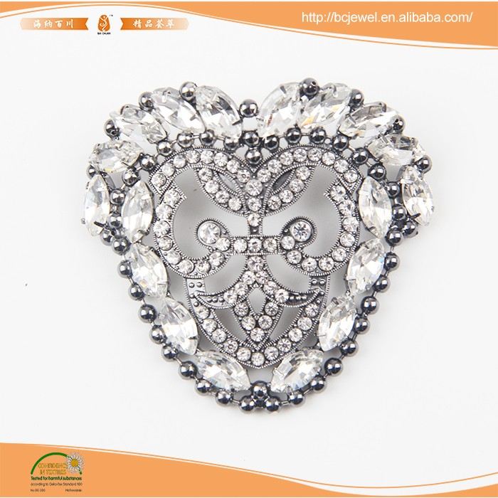 High quality rhinestone shoes clips for decoration accessories
