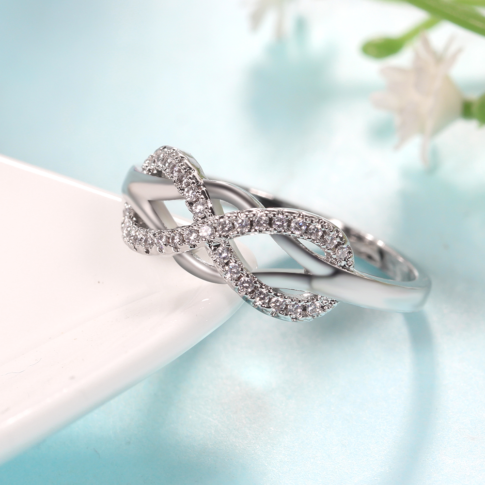 Top Selling Products Silver Metal Jewelry Zircon Rings For Women