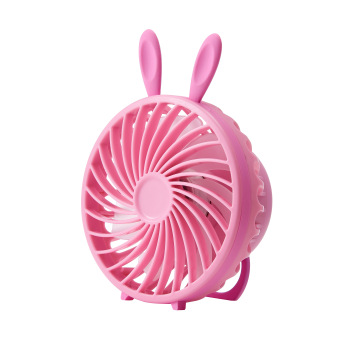 usb rechargeable portable pink rabbit multi-use mini desk fan