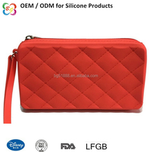 2017New Design Silicone Lady Wallet Bag Multifunction Pencil Case