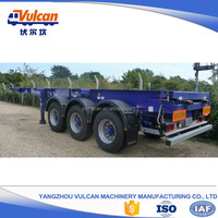 Good quality tri axle shipping container skeletal trailer sale