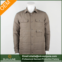 Oem high quality jacket Men's quilted shirts