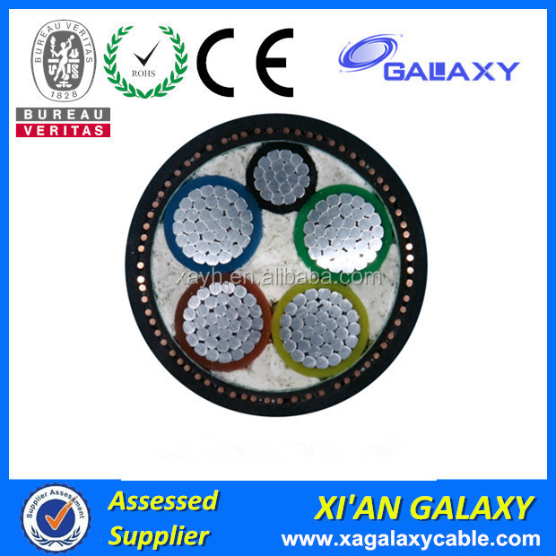 Steel armored type of XLPE Insulate PVCshealth Power Cable 0.6/1KV Medium Voltage XLPE Electric Power Cable Wires armored