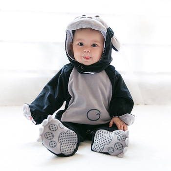 0862d2d42 Kids Newborn Baby Boy Cute Animal Costume Clothes Long Sleeve Warm ...