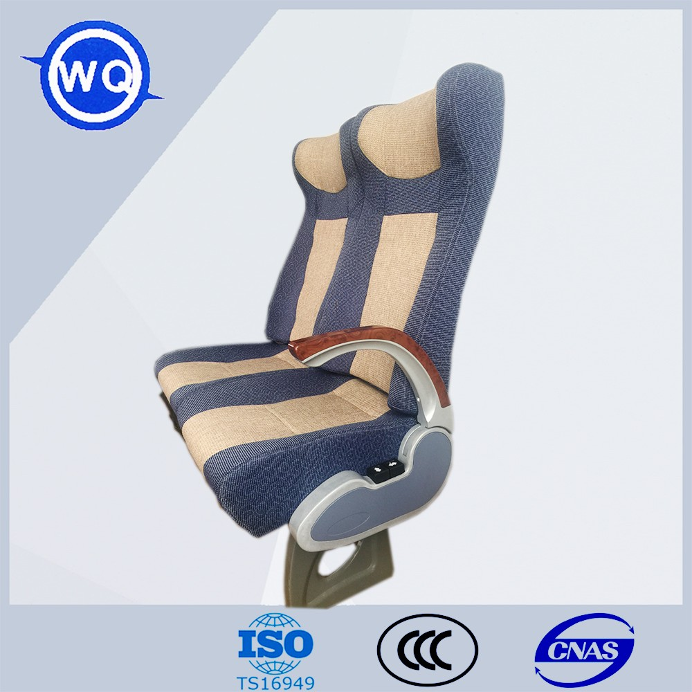 Passenger bus seat with many bus accessories