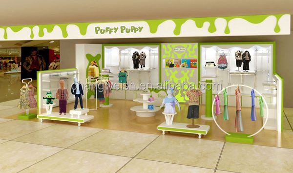 baby clothes store interior design/children clothes display shelf for shop  decoration