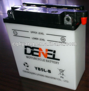 Storage Motorcycle Battery YB5L-B Motorcycle Battery (12V 5AH)With Low Price