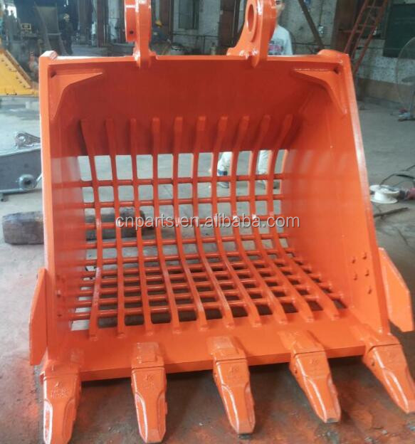 Excavator skeleton bucket/screen bucket/screening bucket for Kobelco SK120-3