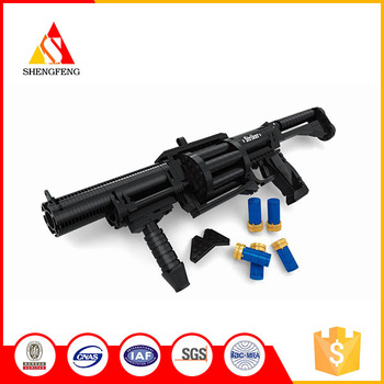 Guangdong good quality building blocks shotgun diy toy for boys