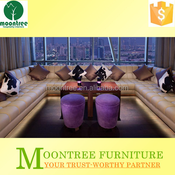 Moontree MLB-1305 shanghai factory night club furniture booth sofa