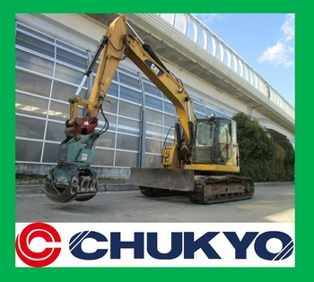 313 Ccr Used Japanese Excavator Sold Out / Rubber Pad On Steel ...