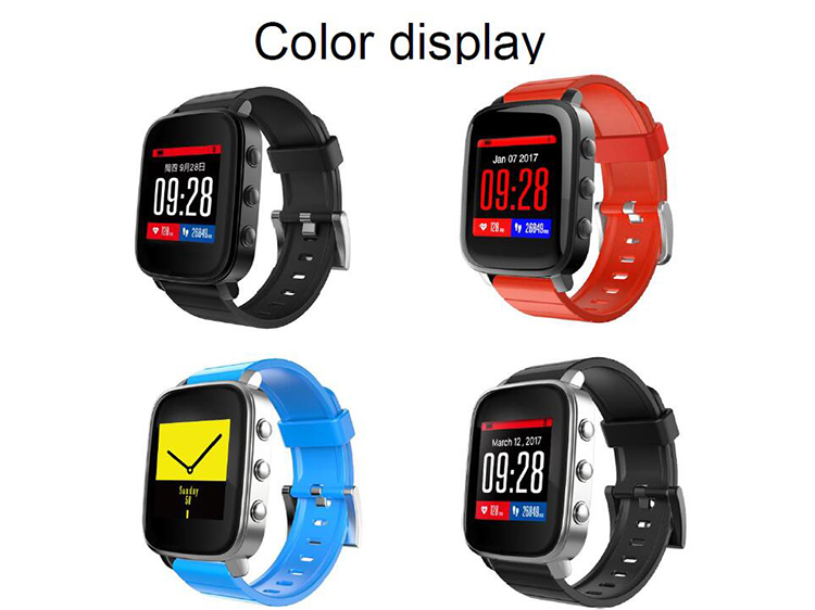 SMA colorful memory LCD screen smart watch Q2 fitness tracker with 40 days standby battery