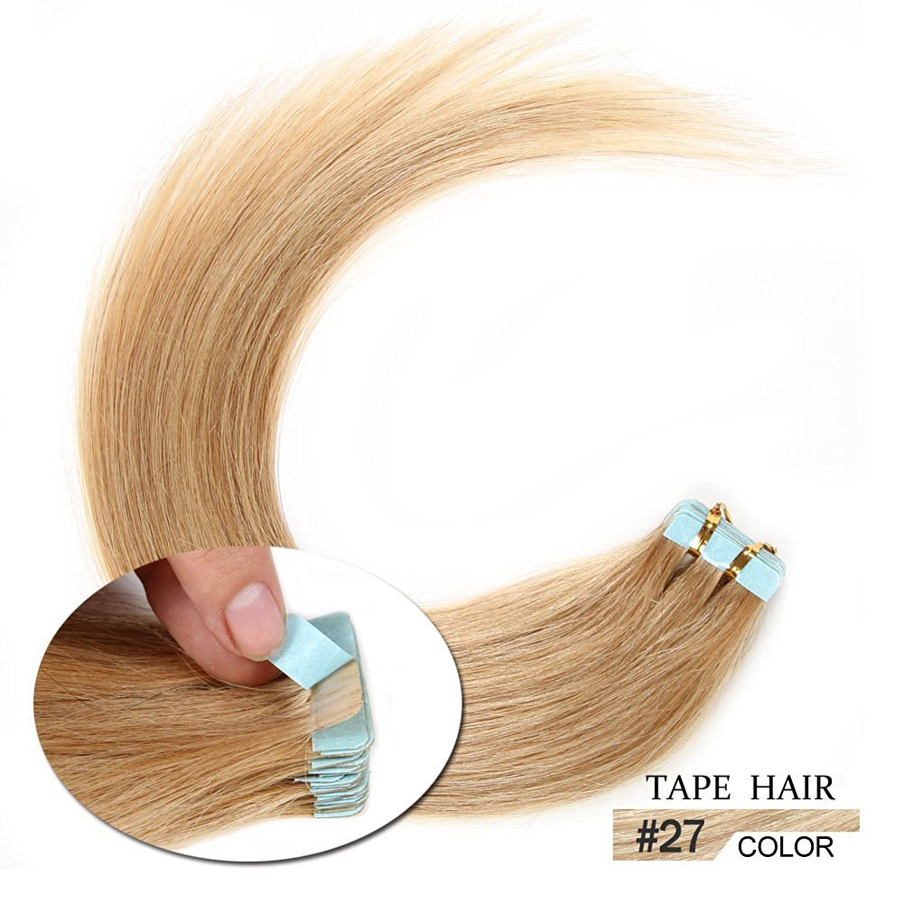 Buy 20 Pieces Tape In Real Human Hair Extensions Straight Skin Weft