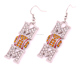 E500126 Yiwu Huilin Jewelry Sports lover softball double M Clear crystal vintage fashion jewelry earrings