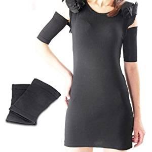 Dfunlife Arm Slimming Shaper Upper Arm Wrap Massage Shaper (2 Pcs) - Black