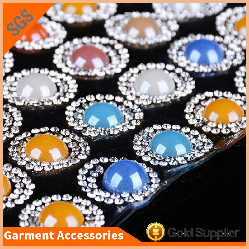 High quality colorful pearl beads hotfix crystal rhinestone mesh sheet trimming for clothes