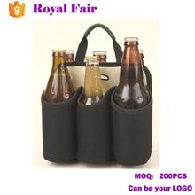 Cheap Portable Neoprene Insulated 6 Pack Carrier Wine Bag
