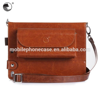 Carrying Leather Case Tablet Bag With Shoulder Strap For Ipad Air 2