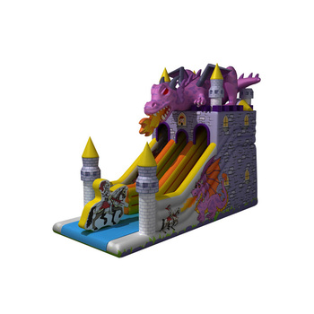 Fun design commercial grade air bouncy dragon slide inflatable