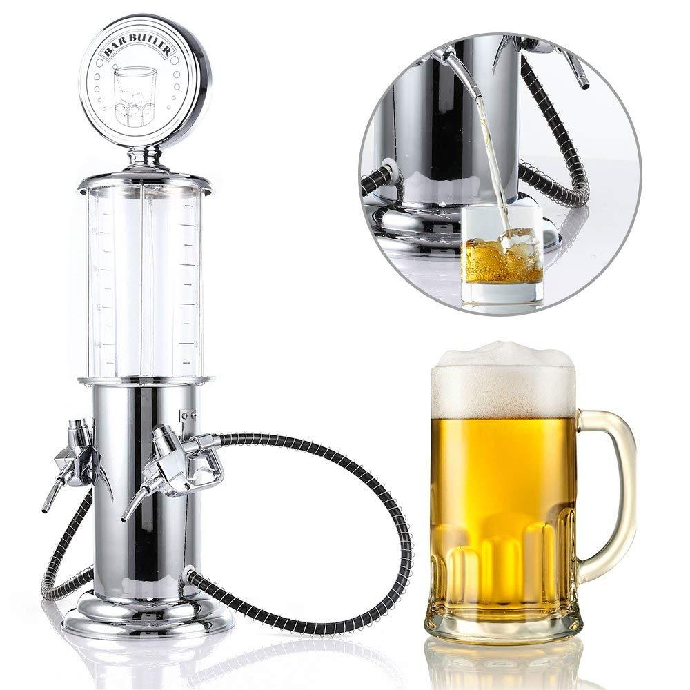 Funnytoday365 Wall Mounted Liquor Wine Beer Spirit Juice Dispenser Single Bottle Bar