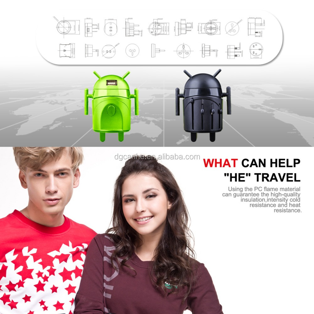 Robot travel adapter for best electronic christmas gifts