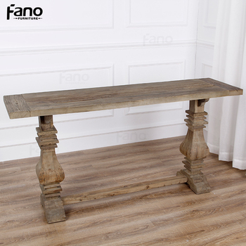 Rustic Narrow Side Table Antique French Style High End Console Table