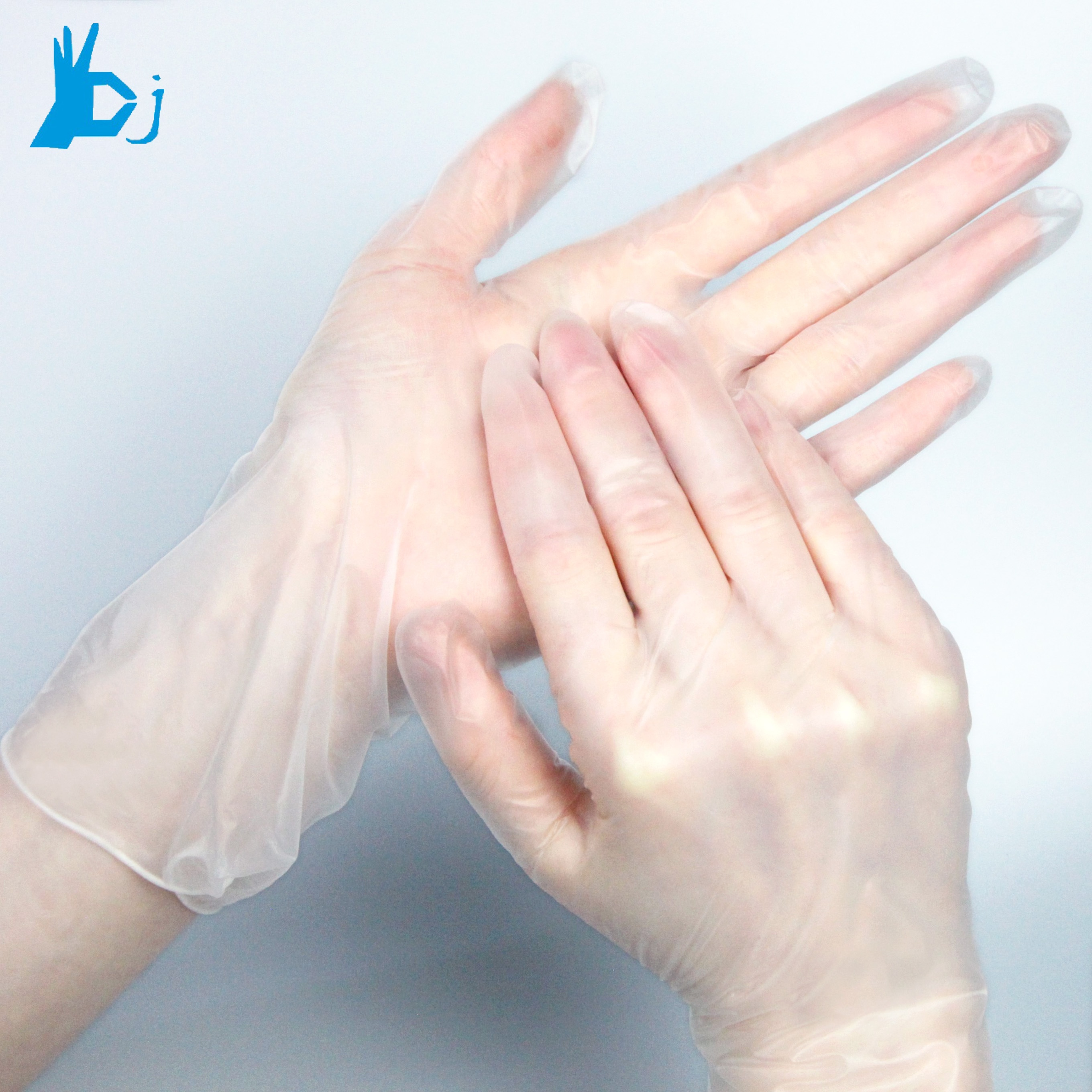 Latex free medical disposable gloves / Powder free vinyl gloves