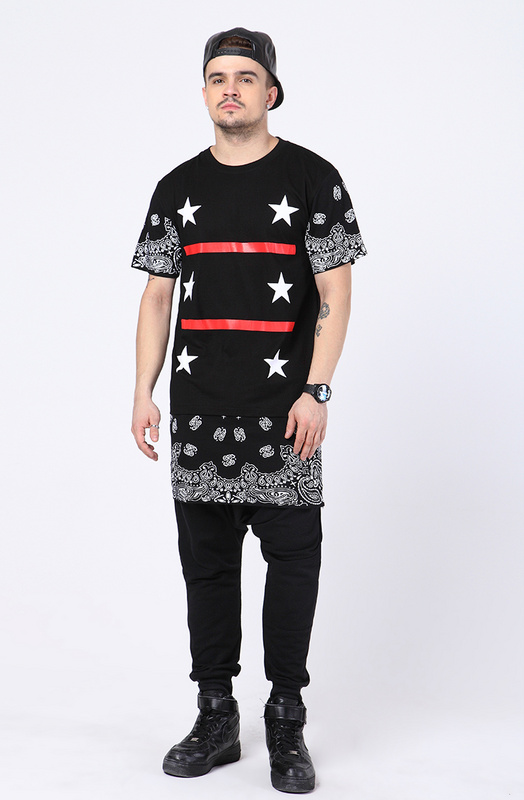 Buy kpop hipster streetwear chris brown tyga extra long shirts for men hip  hop fashion extended tshirt white black red bandana shirt in Cheap Price on  ... feb5c1b1f8b8