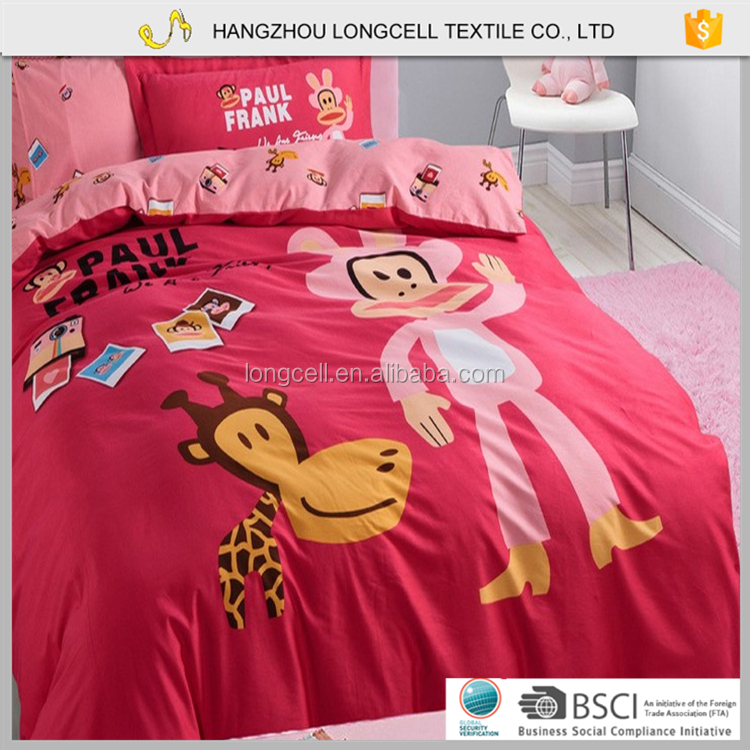 New deisgn 100% cotton baby crib bedding set/cartoon bedsheet for children