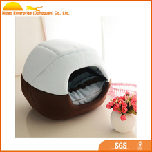 Luxury cozy dog cat house for removable cushion pet bed