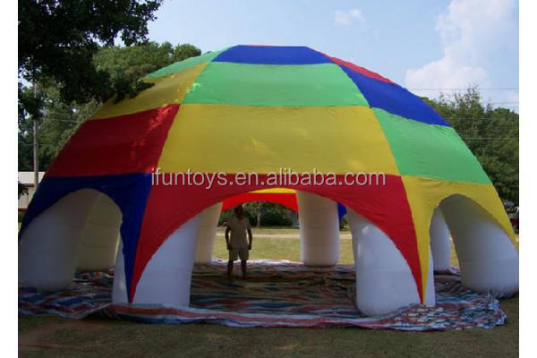 Promotional blow up marquees / tents inflatable spider dome/inflatable tent
