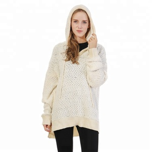 Wholesale Soft Knit Sweater Woman's Popcorn Pullover