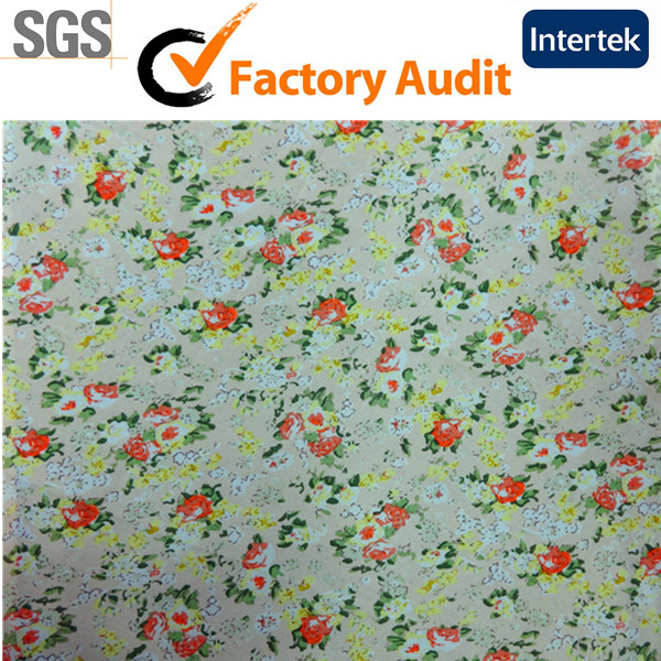 Floral Plain 100% Viscose Rayon Fabric In Shaoxing China