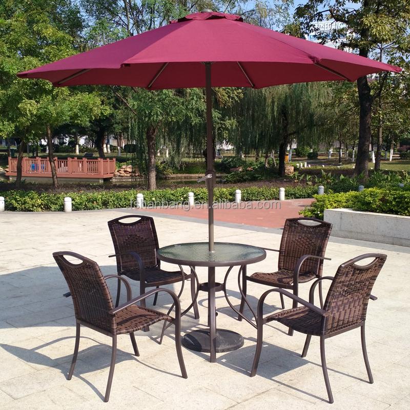 6 unidades jardín al aire libre muebles de cristal mesa de comedor ...