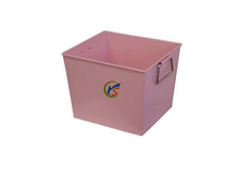 Pink new home square galvanized metal bucket