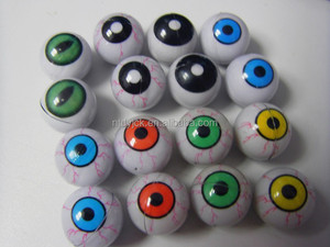 Various colours novelty crazy big rolling bloodshot tricky brains toy eyes