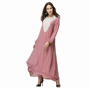 Latest Designs Modern Muslim abaya 2019 embroidered pearl chiffon long dress muslim