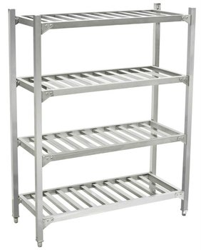 4 Layers Commercial Kitchen Storage Shelf And Rack (square Ladder ) Bn-r05  - Buy Storage Over Shelf,Warehouse Shelf,Catering Rack Product on ...