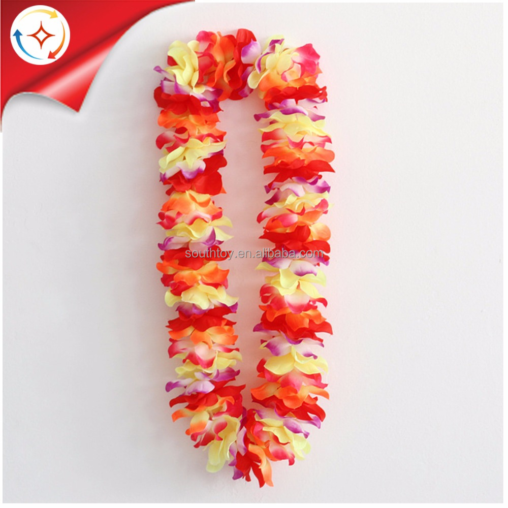 Tropical Hawaiian Luau Flower Leis Party Favors For Kids And Adults
